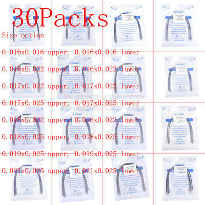 30x Dental Ortho Arch Wires Stainless Steel Rectangular Natural AZDENT ALL SIZES