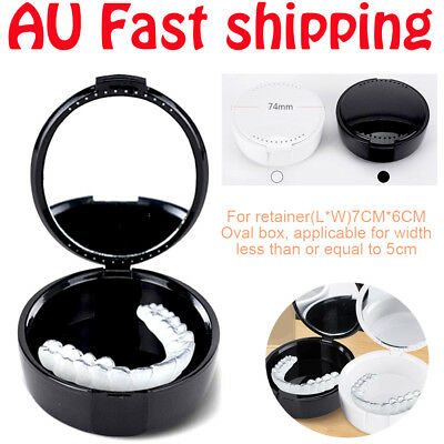 New Dental Retainer Storage Orthodontic Denture Box Mouthguard Case AU Container
