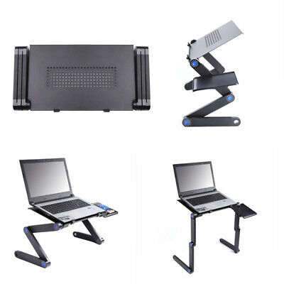 New Portable Adjustable Folding Laptop Table Stand Bed Computer Desk Holder Tray