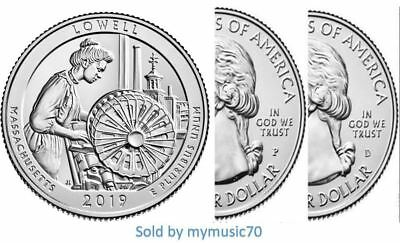 2019 P+D Lowell National Historical Park Quarter (MA) ***ON HAND** **ON HAND**
