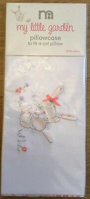 Mothercare My Little Garden Cot Pillowcase To Fit A Cot Pillow **Bnip **