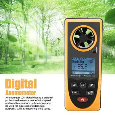 GM8910 LCD Multifunctional Digital Anemometer Temperature Humidity Tester Meter