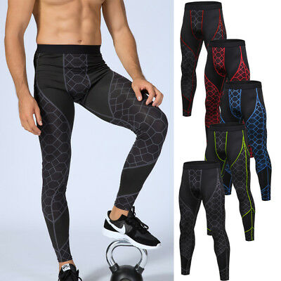 Men's Cycling Thermal Tight Pants Fitness Sports Leggings Bicycle Biking Trouser