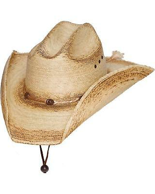 COWBOY HAT ~ Western PALM LEAF Straw ~ Black Diamond - Kenny Chesney ... 4baf71e20b3