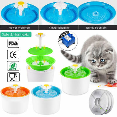 Fontaine à Fleur pour Chat Automatic Electric Flower Pet Water Fountain Drinking