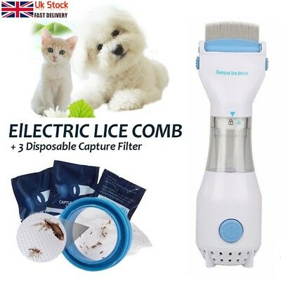 UK Plug LiceTex -Electric Lice Nit Removal Comb Chemical Free Head Lice Solution
