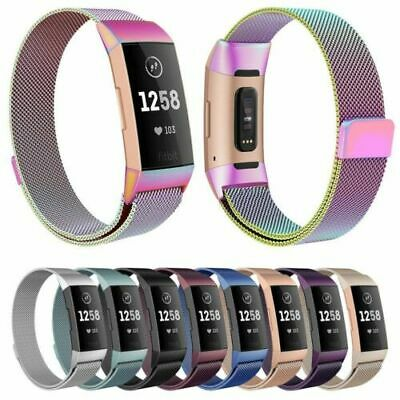 Replacement For Fitbit Charge 3 Milanese Band Metal Stainless Steel Magnet Strap