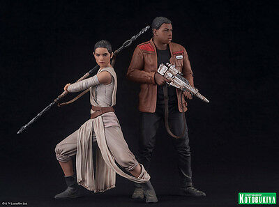 REY & FINN - 2-Pack - STAR WARS VII The Force Awakens ARTFX+ 19cm Kotobukiya OVP