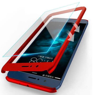 For Meizu M6 Note M5 M3 Note Tempered Glass 360° Protection Hard PC Case Cover