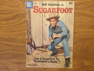 Dell 1958 Will Hutchins as Sugarfoot 907 (#1) Photo Cover Alex Toth Art Movie