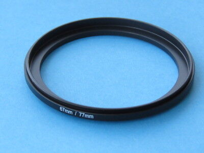 67mm-77mm Male to Male Double Coupling Ring reverse macro Adapter 77mm-67mm UK