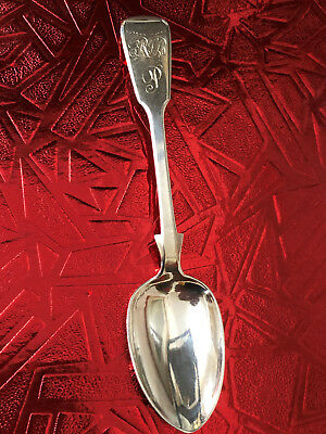 Victorian Silver Fiddleback Spoon - William Rawlings Sobey - Exeter - 1844