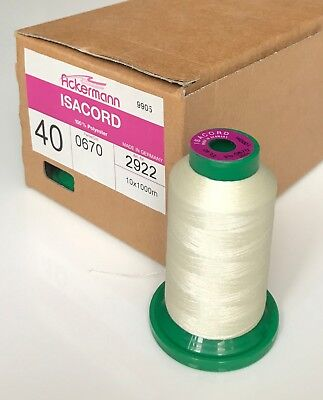 ISACORD 40 embroidery thread 1 x 1000 m.