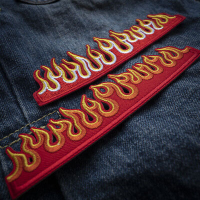 Fire Flame Embroidered Sew On Iron On Patch Badge Fabric Clothes Applique Craft