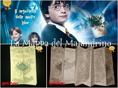HARRY POTTER La Mappa del Malandrino The Marauder's Map Hogwarts replica