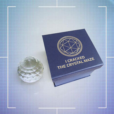 Official The Crystal Maze Live Experience Large Paperweight Crystal Boxed