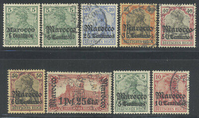 Germany Offices Morocco 1903-1906 Germania Selection Cancels Used €142
