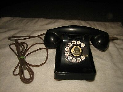 Vtg Western Electric Bell System F1 Refurbished Working Black Rotary Telephone