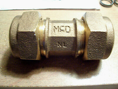 "Mcdonald No-Lead  1"" X 1""  Mac-Pak Compression Union/connector, New. Brass H.d."