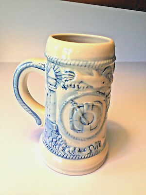 Nautical Theme Beer Stein @ 7 1/2 by 4 1/2 inches in size.  made by WCL