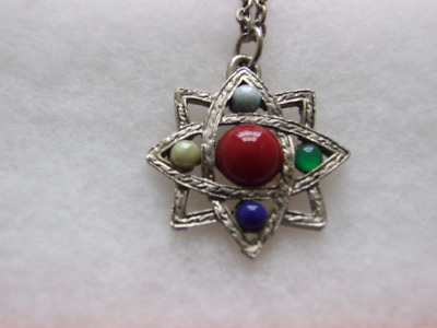 Celtic star pendant on silver coloured chain