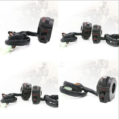 "Motorcycle ATV 22mm 7/8"" High/Low Beam Light Turn Signal Horn Switch"