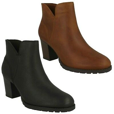 Up Zip Ankle Casual Verona Cushion Heel Clarks Soft Leather Ladies Trish Boots AqvUwIR