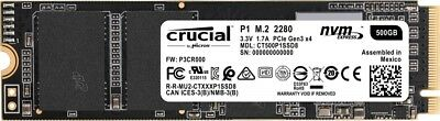 Crucial Dysk SSD P1 500GB M.2 PCIe NVMe 2280 1900/950MB/s