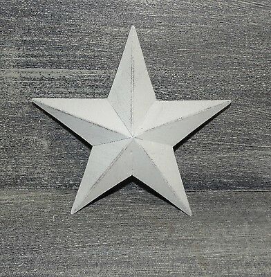 "Primitive Vintage Repro Shabby Country CREAM COLOR Hanging Star Small 6"" Size"