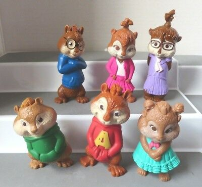 Alvin And The Chipmunks 2009 Lot All 6 Talking Figures Mcdonalds Happy Meal Toy 29 99 Picclick
