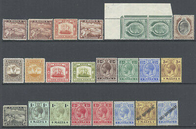 Malta 1899-1930 Scenes Edward VII George V Better Selection Mint £366.60