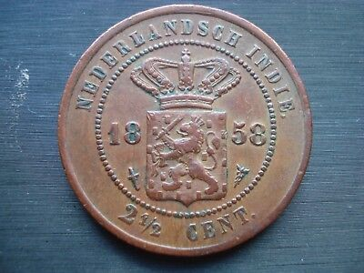 Netherlands Indies 2,5  2 1/2 cents 1858