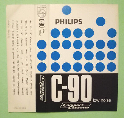CUSTODIA INLAY MC Musicassetta PHILIPS C-90 compact cassette USATA no tdk agfa