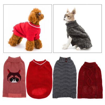 Comfortable Dog Winter Holiday Cool Cozy Sweater Jacket Coat for Dogs & Cats