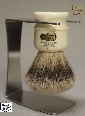 Stainless Steel Shaving Brush Stand for Simpsons Chubby 3 CH3