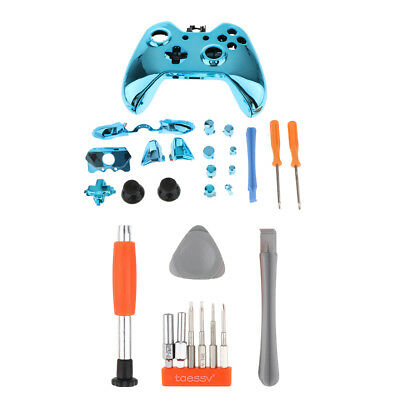 Replacement Part Housing Shell Kit for Xbox One Controller Screwdriver Blue