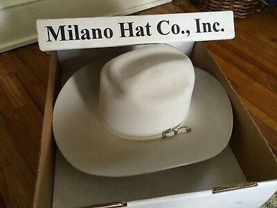 f97a4f592717f Larry Mahan Milano 7X felt cowboy hat with sterling silver buckle (7 1 4
