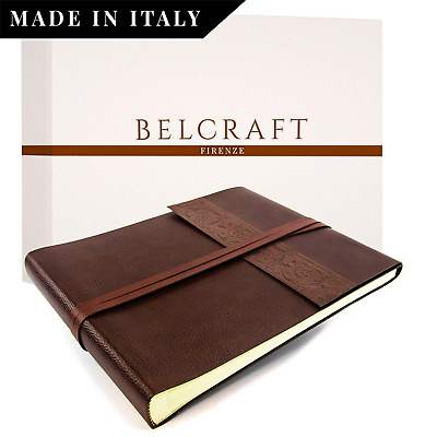 Belcraft Liveri Large Recycled Leather Photo Album, Landscape, MADE IN...
