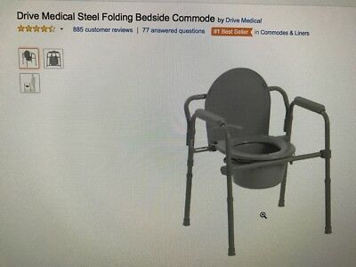 Drive Medical Steel Folding Bedside Commode Still in the box! Price Drop!