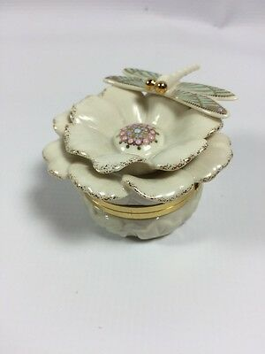 Dragonfly Porcelain Box From Lenox Trinket Box Secret Garden Collection