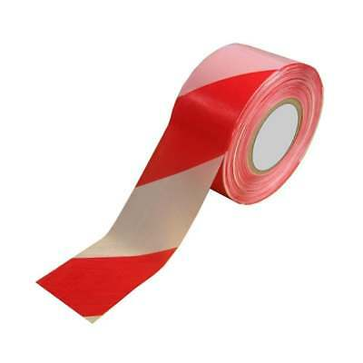 Barrier Tape, Safety Cordon Warning Marking Hazard Tapes, Red White, 72mm x 500m