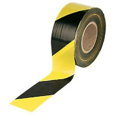 Barrier Tape, Safety Warning Marking Hazard Tapes,Yellow black, 72mm x 500m