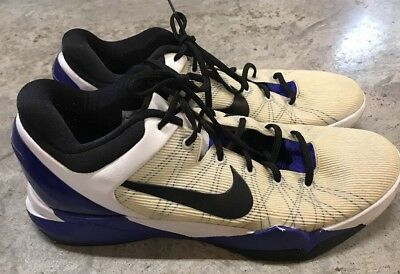 huge selection of d0be4 dc59e Nike Zoom Kobe 7 VII System 488244-100 Purple Concord Black White Size 15