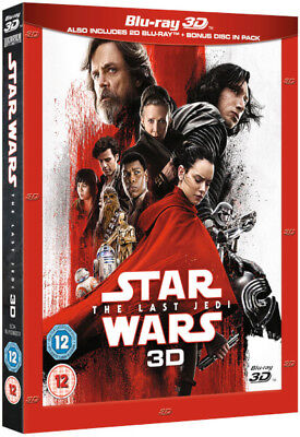 Star Wars The Last Jedi 3D (Blu-ray 2D/3D) *BRAND NEW*