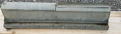"""Rare Dome Top Chicken Feeder 35"""" Long Dome Top Galvanized Double Hinged Lids"""