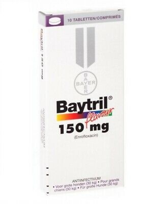 BAYER  Baytril flavour 150 mg for dogs 10 tablets