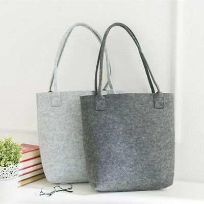 Girl Women Tote Bag Felt Handbag Shopping Storage Dark Gray/Light Gray Stylish