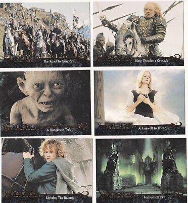 20 Different Lord Of The Rings Cards, 2004, The Return Of The King, Nice Lot 2.