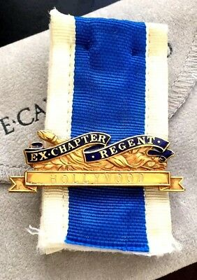 DAUGHTERS OF AMERICAN REVOLUTION MEDAL NAMED & NUMBERED PIN - Gold Filled - DAR