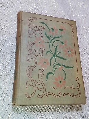 """Antique late 1800""""s book Lucile by Owen Meredith Green Floral Hardcover"""